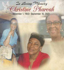 DEATH ANNOUNCEMENT: Christine Pharoah