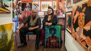 Dominican opens art gallery in US; says there's room for other Dominican artists (with photos)