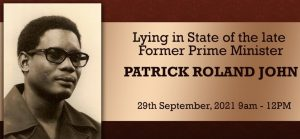 LIVE from 9am: Lying in State of the Late Former Prime Minister Patrick Roland  John