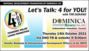 NDFD'S Let's Talk: '4 for you Pandemic Relief Loans' Promotion hosted by Tim Durand