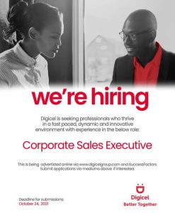 ANNOUNCEMENT: Digicel vacancy – Corporate Sales Executive